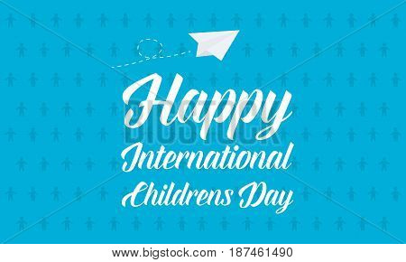 Background childrens day vector art collection stock