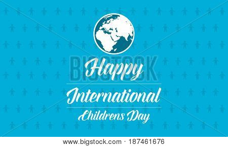 Childrens day blue background collection vector art