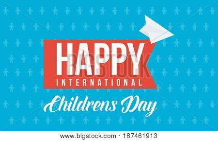 Childrens day design background collection vector art