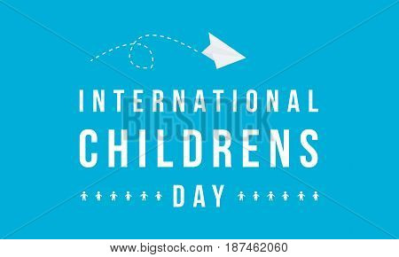 Background of childrens day style collection vector illustration