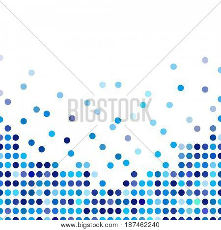 Mosaic background random dark and light blue circles, pattern polka dots, neutral versatile pattern for business techno style design. Decoration booklet, broadsheet, flysheet, poster, banner.