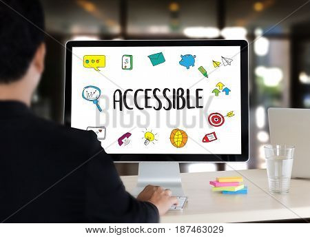 Accessible Welcome Greeting Welcoming Approachable Access Enter Available Concept