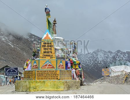 Changla Pass In Ladakh, India