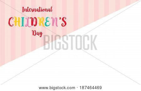 Greeting card childrens day style vector illustration