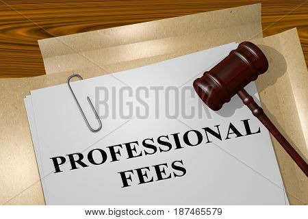 Professional Fees Concept