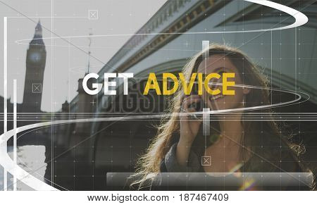 Get Advice Consult Strategy Business Word