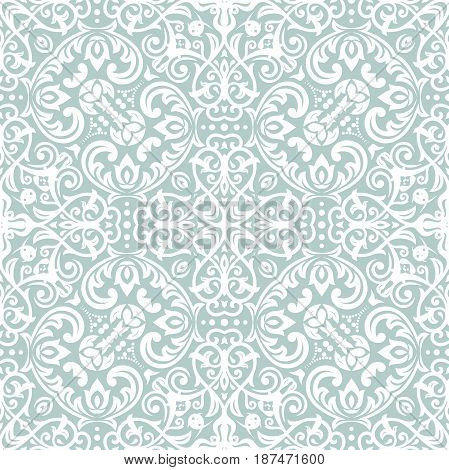 Classic seamless vector pattern. Traditional orient ornament. Classic vintage light background