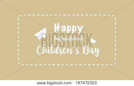 Collection card for childrens day vector illustration