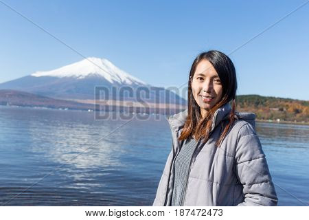 Young woman travel in Fujisan