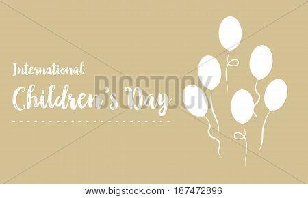 Happy childrens day design background vector art