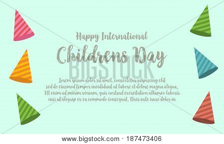 Childrens day design greeting card vector illustration