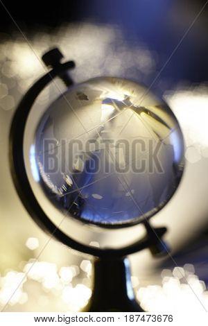 fiber optic with glass globe