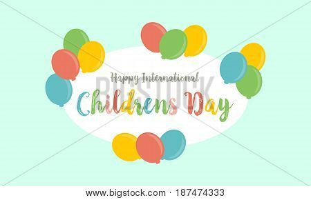 Card style for childrens day vector art illustration