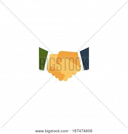 Flat Partnership Element. Vector Illustration Of Flat Agreement   Isolated On Clean Background. Can Be Used As Partnership, Relatives And Meeting Symbols.