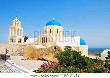 Church On Santorini Island, Greece.