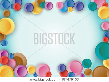 Colorful dot circle blue green background. vector illustration for your design.
