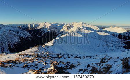 Winter scenery Kasprowy Wierch is a mountain in the Western Tatras