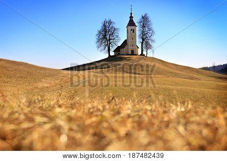 The church of Saint Thomas in Slovenia.