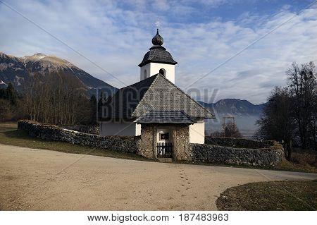 Church of Saint Catherine near Bled, Slovenia.