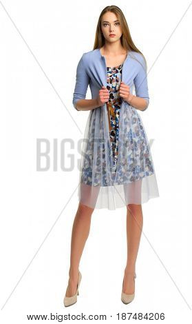 Young woman isolated on white