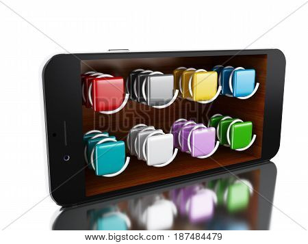 3D Smartphone With Store.