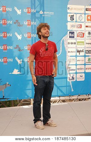 Giffoni Valle Piana Sa Italy - July 26 2014 : Sydney Sibilia at Giffoni Film Festival 2014 - on July 26 2014 in Giffoni Valle Piana Italy