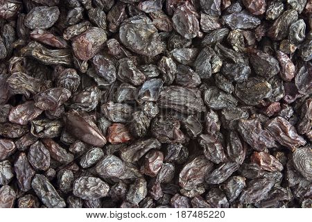 Raisin texture. Raisin background, tasty, natural, top view