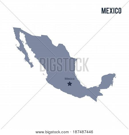 Vector Map Of Mexico Isolated On White Background.