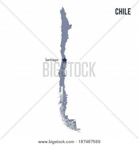 Vector Map Of Chile Isolated On White Background.