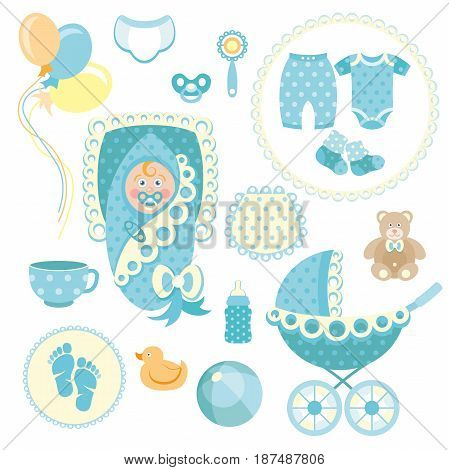 Little boy baby shower related items collection