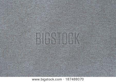 Grey fiber sackcloth texture fullscreen macro, closeup