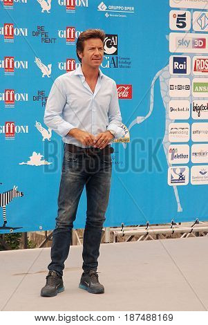 Giffoni Valle Piana Sa Italy - July 27 2014 : Paolo Conticini at Giffoni Film Festival 2014 - on July 27 2014 in Giffoni Valle Piana Italy