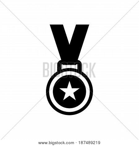 Medal icon in fashionable flat style isolated on white background