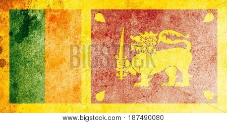 Sri Lanka flag grunge background. Background for design in country flag