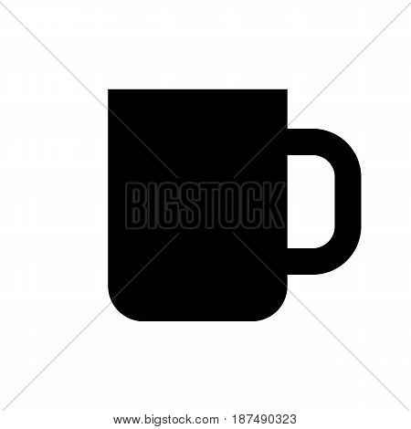 Coffee cup flat icon isolate on white background vector illustration eps 10