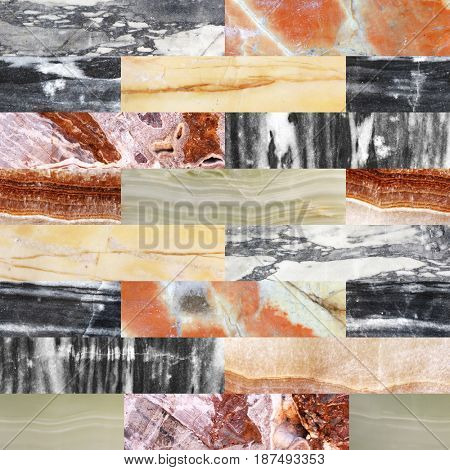 Background with marble patterns of different colors. Endless texture can be used for wallpaper, pattern fills, web page background, surface textures