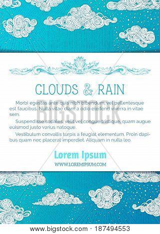 Vector Wet Weather Background.