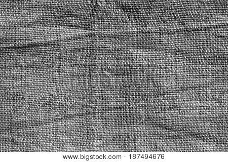 Gray Hessian Sack Cloth Texture.