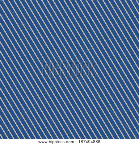 Seamless Pattern of Slanting Strips, Pattern for Fabric and Wrapping Paper, Gold Slanting Strips on Blue Background, Vector Illustration