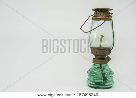 isolated old vintage lamp with white background