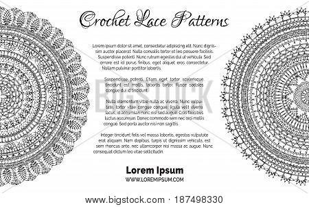 Lace Crochet Patterns Background.