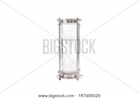 Hourglass isolated on white background. sand glass