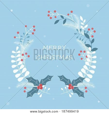 Christmas wreath. Christmas. New Year. Vector illustration.
