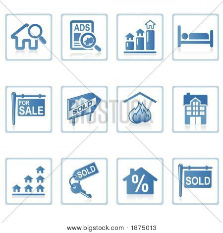 Web-Icons: Immobilien