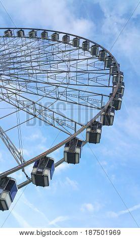La Grande Roue the ferris wheel in the Place de la Concorde Paris France