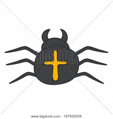 Vector Cartoon Hand Drawn Spider