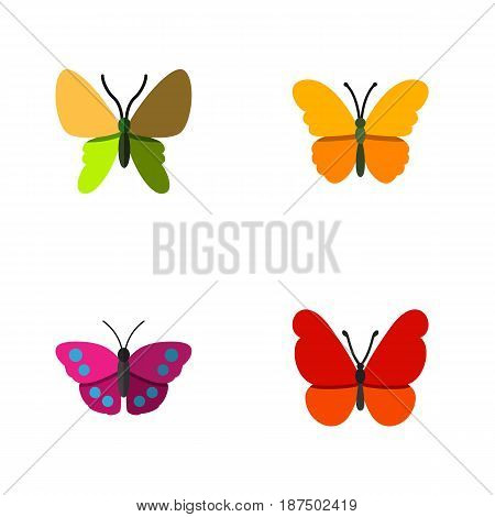 Flat Monarch Set Of Monarch, Beauty Fly, Archippus And Other Vector Objects. Also Includes Archippus, Butterfly, Monarch Elements.