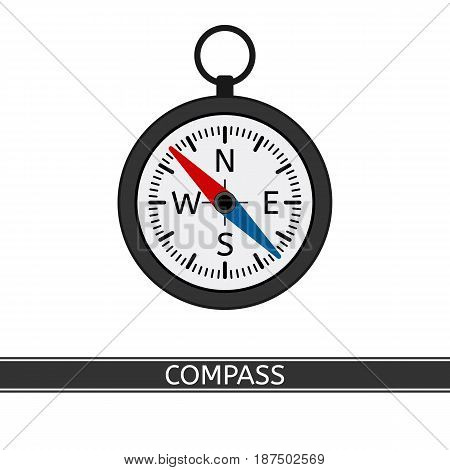 Compass vector icon isolated on white background flat style