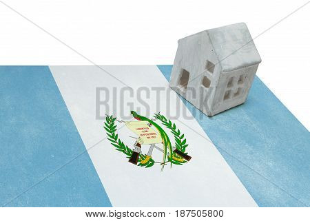 Small House On A Flag - Guatemala