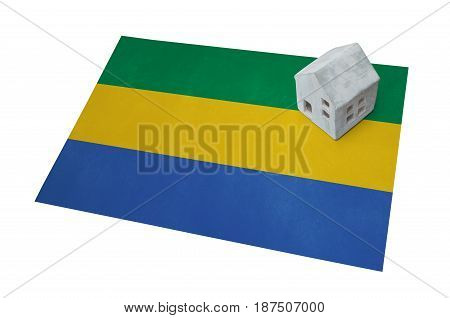 Small House On A Flag - Gabon